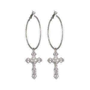Jewelry - Fashion cross alloy earrings